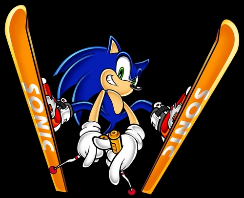 Sonic on Skiis