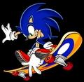 Sonic on a Skateboard