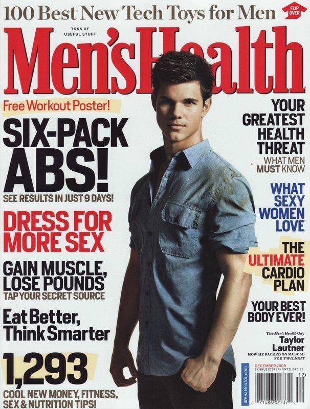 "Taylor Lautner in ""Men's Health"" Magazine!"