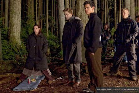 Taylor Lautner on Set of New Moon