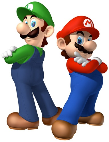 Mario and Luigi wolpeyper entitled The Mario Bros.