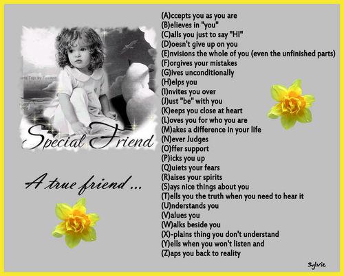 True Friend's alphabet
