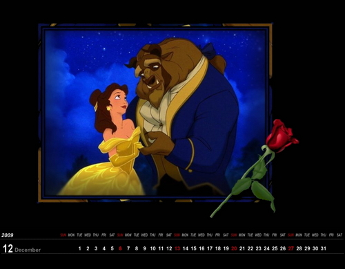 Wallpaper.December.Beauty and the Beast