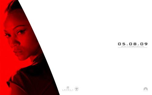 Zoe Saldana | ngôi sao Trek Widescreen hình nền