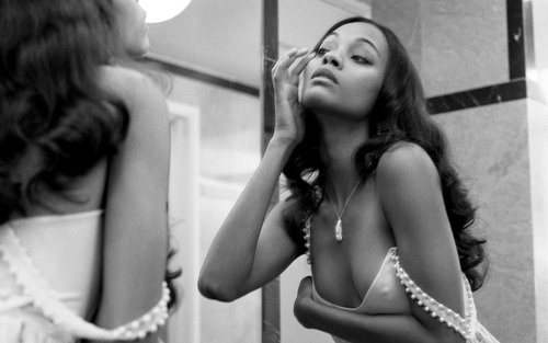 Zoe Saldana Hintergrund possibly containing a portrait entitled Zoe Saldana Widescreen Hintergrund