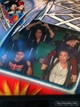 demi at Disney land with her family