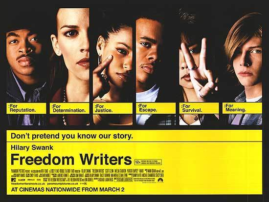 freedom writer Another movie about a well-meaning, white-bread teacher thrust among the savages no, not by a long shot although freedom writers is the latest in a long line of saint-saves-students stories, it takes the bold approach of being earnest, honest and unafraid to be called naive as a result, it's extremely affecting.
