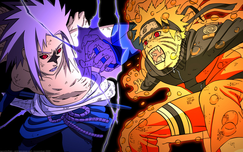 friends or rivals? - naruto-shippuuden Wallpaper