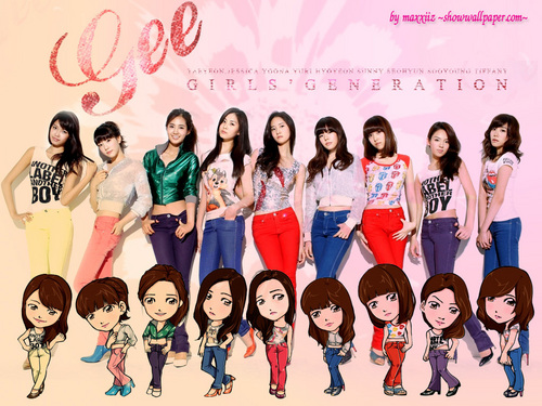 Girls Generation/SNSD wallpaper entitled Gee