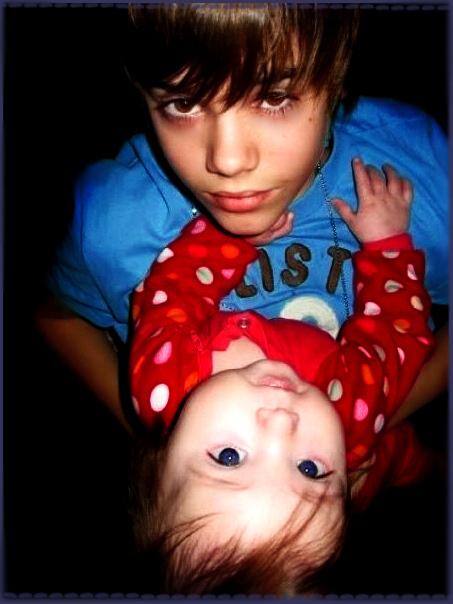 justin bieber little kid. justin bieber little sister