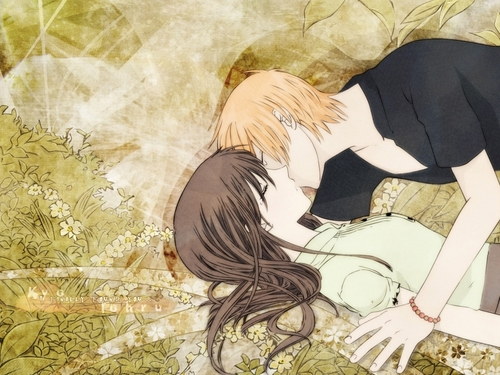 Love wallpaper probably with anime entitled kiss