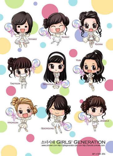Girls Generation/SNSD wallpaper entitled kissing you chibi