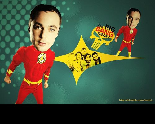 Sheldon Cooper wallpaper possibly containing anime titled shelly~The flash is coming