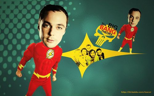 Sheldon Cooper wallpaper probably containing anime titled shelly~The flash is coming