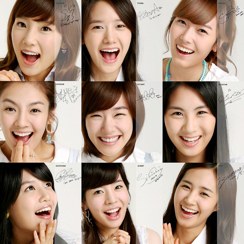 소녀시대 바탕화면 containing a portrait entitled SNSD Members