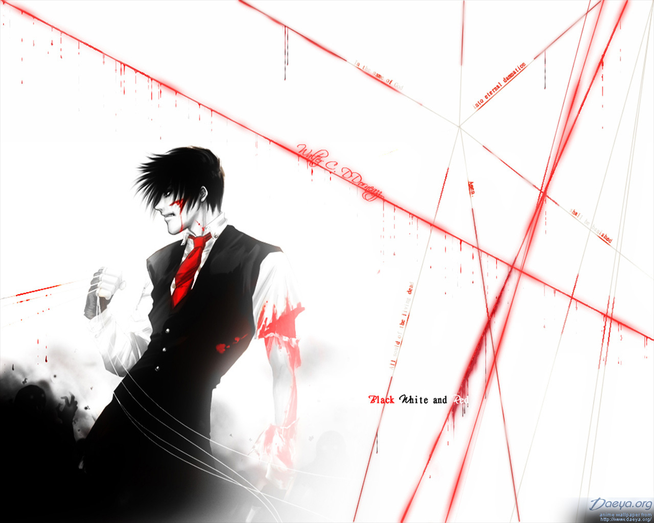 Hellsing images walter black white and red hd wallpaper - Black white and red wallpaper ...