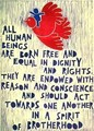 """All Human Beings Are Born Free and Equal"" - human-rights fan art"