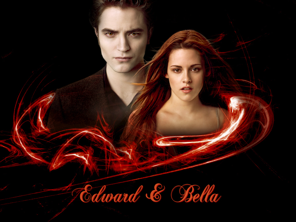 new moon edward amp bella wallpaper twilight series