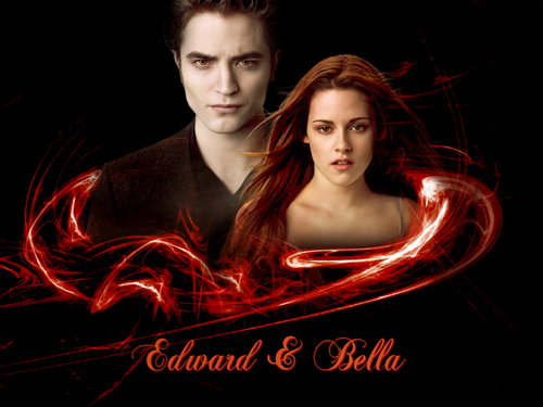 ~~ New Moon Edward & Bella ~~ wolpeyper