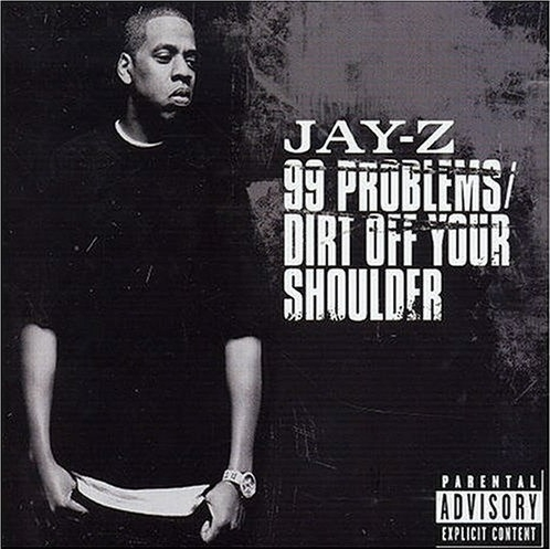 Jay Z wallpaper probably with a sign, a newspaper, and anime called 99 problems