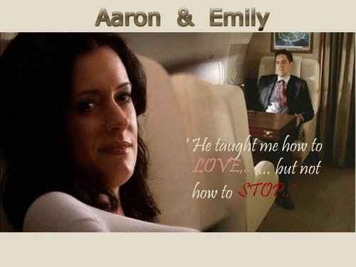 Hotch & Emily 壁纸 containing a portrait entitled Aaron&Emily