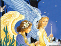 Angel Christmas Scene - angels wallpaper