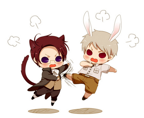 Hetalia wallpaper called Austria & Prussia