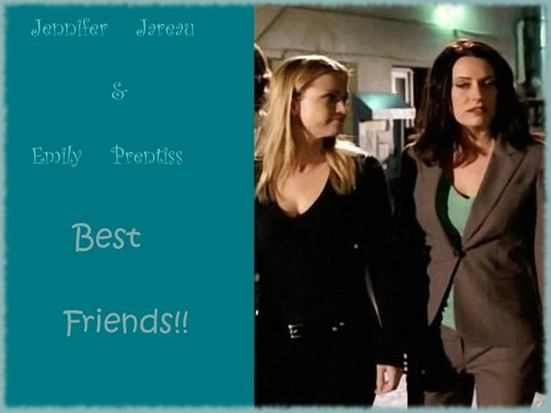 "Jennifer ""JJ"" Jareau wallpaper containing a portrait titled Best Friends"