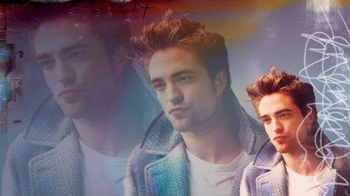 Blue Plaid - robert-pattinson Wallpaper