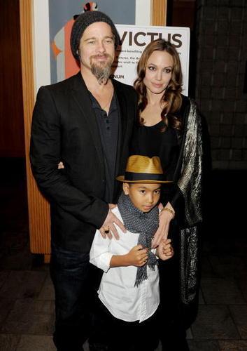Brad, Angelina and Maddox