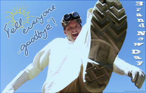 Dr. Horrible's Sing-A-Long Blog wallpaper probably containing a workwear and a sign called Brand New Day