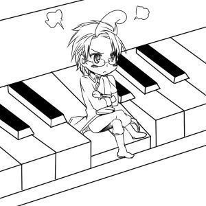 Chibi Austria on Piano
