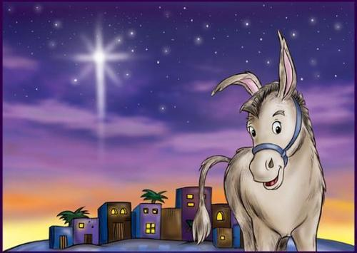 Christmas wallpaper entitled Little Donkey