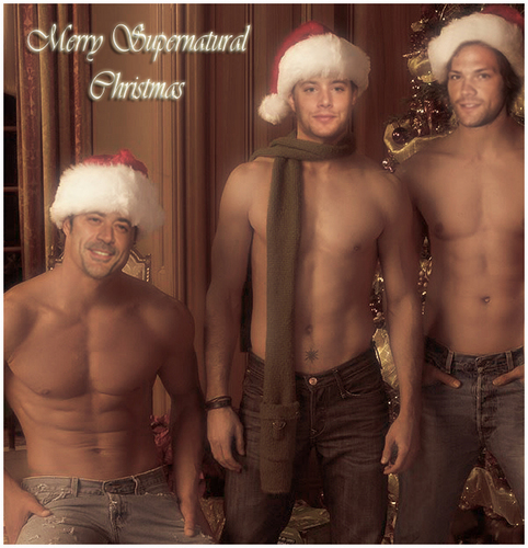 Krismas Greetings from The Winchesters =)
