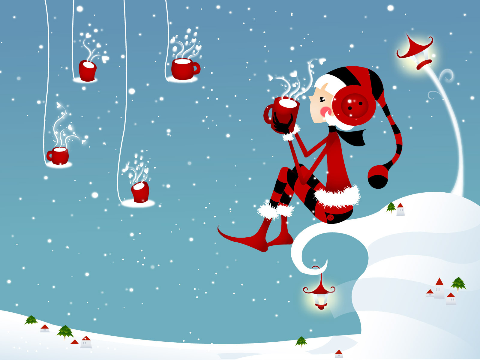 cute cartoon holiday wallpaper - photo #2
