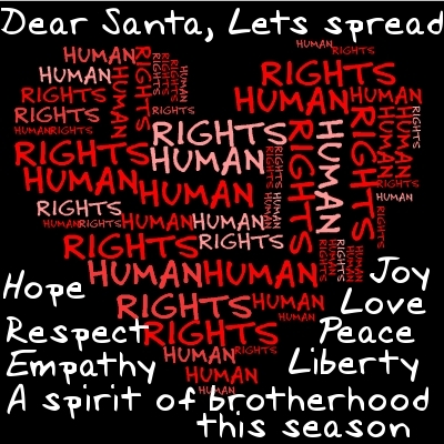 Human Rights wallpaper probably containing a sign and anime titled Dear Santa