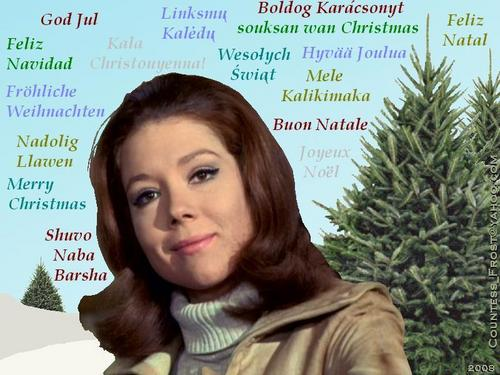 Emma Christmas 2008 (multi-language) - diana-rigg Wallpaper