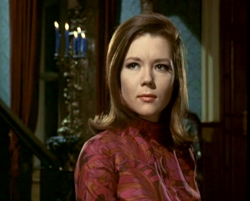 Diana Rigg kertas dinding probably with a portrait called Emma Peel