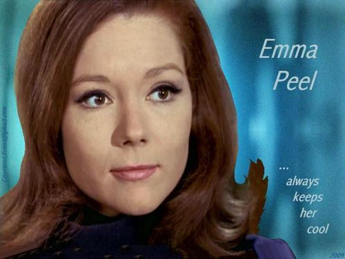 Emma Peel ...always keeps her cool