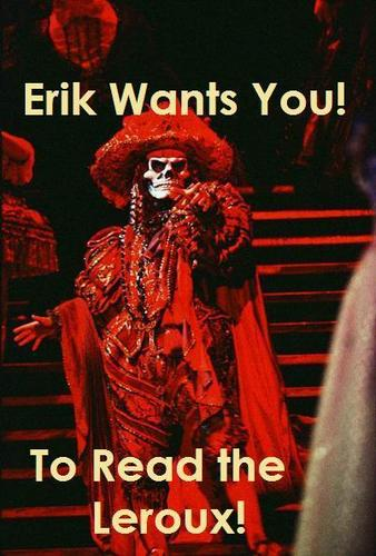Erik wants you! (but not like that. Perv.)
