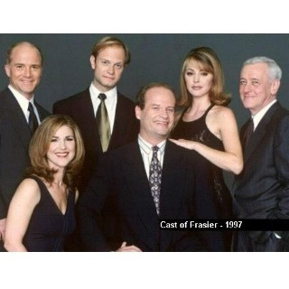 Frasier fondo de pantalla containing a business suit, a suit, and a dress suit titled Frasier cast