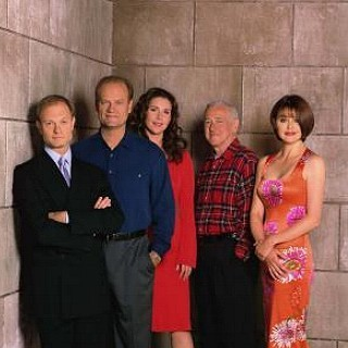 Frasier fondo de pantalla probably with a business suit and a well dressed person called Frasier cast
