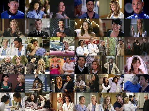 Grey's Anatomy wallpaper entitled Grey's Anatomy collage
