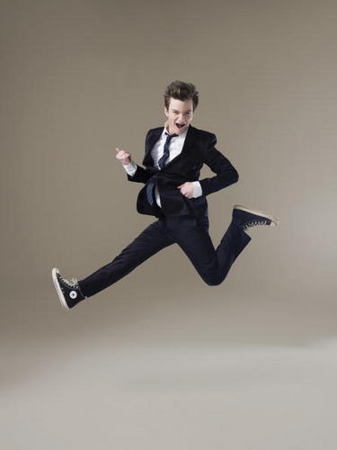 Chris Colfer wallpaper containing a business suit, a well dressed person, and a suit entitled H Magazine Photo Shoot