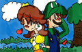 Hold My Arm - luigi-and-daisy fan art