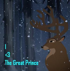 Bambi kertas dinding titled I Cinta the Great Prince