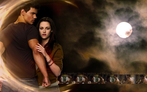 Jacob and Bella wallpaper
