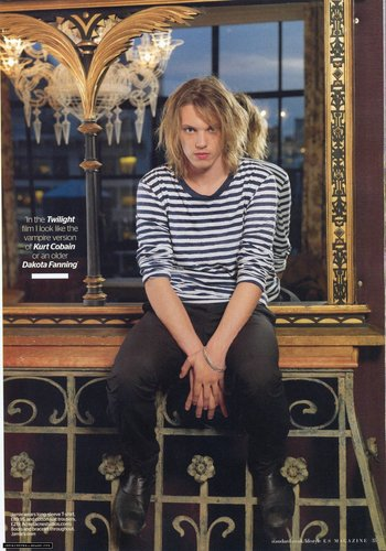 Jamie Campbell Bower wallpaper containing a trono called Jamie in Evening Standard