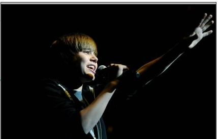 Justin at the Jingle Ball in MN