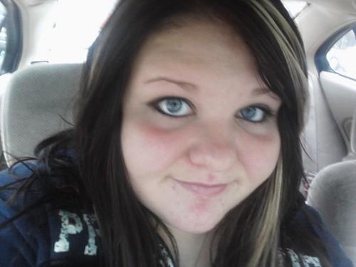 Kay in her car